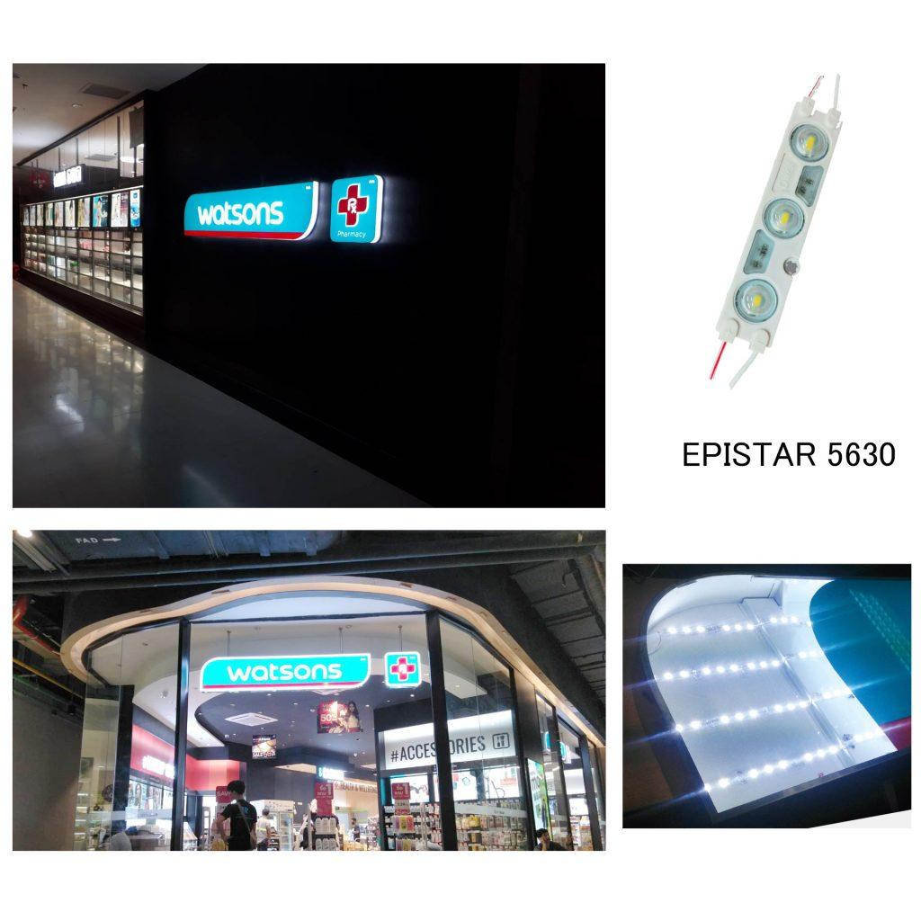 หลอดไฟ Epistar 5630 เหมาะสำหรับงานตัวอักษรขนาดใหญ่และเล็ก
